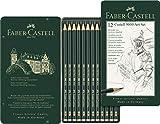 Faber-Castell 119065 - Bleistift CASTELL 9000, 12er Art Set, Inhalt: 8B - 2H