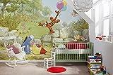 Komar Disney-Fototapete Winnie BALLOONING-368 x 254 cm-Tapete, Wand, Dekoration, Wandbelag, Wandbild, Wanddeko, Hundertmorgenwald, Pooh der Bär, Tigger, Esel-8-460, 368 x 254