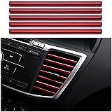 Gfyuan Für Jaguar Autoinnenraum voller gerader Luftauslass 10pcs Autoform Klimaanlage Luftauslass Zierstreifen Persönlichk