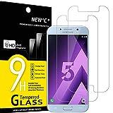 NEW'C 2 Stück, Schutzfolie Panzerglas für Samsung Galaxy A5 2017, Frei von Kratzern, 9H Härte, HD Displayschutzfolie, 0.33mm Ultra-klar, Ultrabeständig