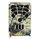 Akin Wildkamera Full 1080P 16MP Jagd Trail Kamera mit Nachtsichtbewegung, 0,8S Auslöser / 46 Infrarot-LEDs / IP54 wasserdicht / 120° Weitwinkel für Jagdspiele / Wildtierüberwachung