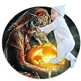 Runder Teppich für den Innenbereich, Motiv: Halloween-Gruselige Zombie-Braut, Fußmatte, Überwurf, Teppich, Yogamatte, für Wohnzimmer, Schlafzimmer, 7,9