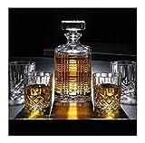 LCY Whiskey Karaffe 7 Stück Whisky Decanters 100% bleifreiem Kristallglas Whiskey Decanter Hält bis zu 750ml Mit Abdeckung for Wodka Whisky Scotch Rum Tequila Mehr (Color : A)