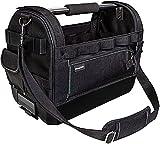 Bosch Sortimo ProClick Tool Bag M Werkzeugtasche offen - 48×33×24 cm L-BOXX-kompatibel Profi-Werkzeugträger aus Hochbelastbarem D1000 Polyester mit gepolstetertem Tragegriff und Schulterg