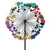 Bits and Pieces - Metallisches Kaleidoskop Windrad, Windmühle - Gartendeko - Wetterfest für Rasen, Garten oder T