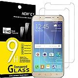 NEW'C 2 Stück, Schutzfolie Panzerglas für Samsung Galaxy J7 2015, Frei von Kratzern, 9H Härte, HD Displayschutzfolie, 0.33mm Ultra-klar, Ultrabeständig