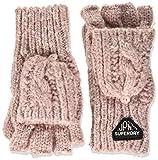 Superdry Damen Gracie Cable Glove Winter-Handschuhe, Candy Pink Tweed, Einheitsgröß