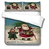 Bettwäsche 135x200 Polyester Baumwolle Weihnachten Druck bettbezug + 2 Kissenbezüg