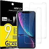 NEW'C 2 Stück, Schutzfolie Panzerglas für iPhone 11 und iPhone XR, Frei von Kratzern, 9H Härte, HD Displayschutzfolie, 0.33mm Ultra-klar, Ultrabeständig