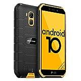 Ulefone Armor X7 Günstige Outdoor Handys - Android 10 IP68/IP69K Wasserdichtes Smartphone ohne Vertrag Quad-Core 2+16GB 5,0-Zoll-Bildschirm 13MP Hauptkamera 4000mAh Batterie Fingerabdruck-ID (Gelb)