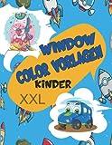 Window Color Vorlagen Kinder XXL: 220 Große Schablonen Für Mädchen, Junge. Motive für Kinder und Erwachsene Beinhalten Abwechslungsreiche Einhorn, Meerjungfrau, Prinzessin, Feen & Viele W