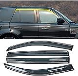 4-teilig Seitenscheiben Vorn und Hinten Windabweiser Set Auto Fenster Visier Für Range Rover Sport L320 2005-2013