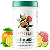 Meine Orangerie - Langzeit-Zitrusdünger [1kg] - Profi Zitruspflanzendünger - Gleichmäßige Langzeit-Wirkung für 6 Monate - Langzeit Zitrusdünger für Citrusp