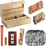 Heisenberg Rolling Box Geschenkset zum Zigarettendrehen, All-in-One Dreherbox, Bambus Aufbewahrungsbox mit Zubehör von RAW Größe S - S