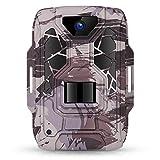 TMEZON Wildkamera Fotofalle 1080P Full HD 12MP Jagdkamera Weitwinkel Vision Infrarote 20m Nachtsicht wasserdichte IP66 Überwachungskamera Wildtierkamera für Jagd und Tierbeobachtung,16 GB SD