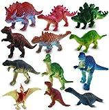 24x Dinosaurier Figuren Kunststoff Sortiert 7cm Dinos Saurier Mitgebsel STUWU