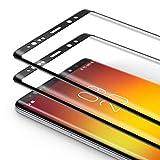 Bewahly Panzerglas Schutzfolie für Samsung Galaxy Note 8 [2 Stück], 9H Härte Panzerglasfolie Ultra Dünn HD Displayschutzfolie Curved Full Cover Folie für Samsung Galaxy Note 8 - Schw