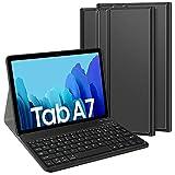 TASTATUR für Samsung Galaxy Tab A7 (Deutsches QWERTZ) Tastatur, Bluetooth Abnehmbarer Tastatur mit Hülle Standfunktion für Samsung Galaxy Tab A7 2020 10,4 Zoll, Schw