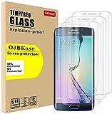 OJBKase [3 Stück Samsung Galaxy S6 Edge Plus, Schutzfolie Panzerglas Panzerglasfolie Displayschutzfolie, 2.5D 9H Härte und Hohe-Auflösung, Anti-Kratzen, Anti-Öl, Anti-B
