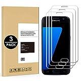 Samsung Galaxy S7 Edge Panzerglas, [3 Stück] Schutzfolie für Samsung Galaxy S7 Edge 9H Härte HD Transparent Displayschutzfolie Gehärtetem Glas Schutzglas Panzerglas Folie,