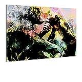 Wandbild auf Acrylglas von bilder.de, Tierwelt, abstraktes Design, Kunstdruck auf Plexiglas, ohne Rahmen, 30x20, Deko für Wohnzimmer & Schlafzimmer, modern,