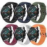 Hatolove Armband Kompatibel mit Huawei GT 2 46mm/Samsung Galaxy Watch 3 45mm/Galaxy Watch 46mm, 22mm Weiche Silikon Sport Armbänder Ersatz für Huawei GT 2/Huawei Watch GT2 Pro/GT2e/Huawei Watch GT