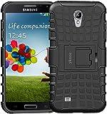 ykooe Galaxy S4 Hülle, (TPU Series) Samsung S4 Dual Layer Hybrid Handyhülle Drop Resistance Handys Schutz Hülle für Samsung Galaxy S4 (Nicht mit S4 Mini zu verwenden) Schw