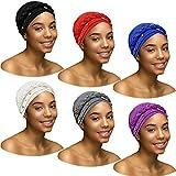 6 Packungen Damen Turban Cap Perlen Kopftuch Hut Zopf Kopf Wrap Perlen Kopf Wrap