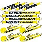 VULCAN Komplettes Achsgurt-Spanngurt-Set mit Drahthaken-Spanngurten – klassisch gelb – inklusive (4) 55,9 cm Achsgurte, (4) 91,4 cm Achsgurte und (4) 38,1 cm Spanngurte mit J-Hak