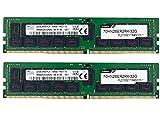 Timetec Hynix Original RAM-Modul (64 GB KIT (2 x 32 GB), DDR4, 2666 MHz, PC4-21300, registriert, ECC, 1,2 V, CL19, 2Rx4, Dual Rank 288-polig, RDIM-Server, Upgrade (64 GB KIT (2 x 32 GB))