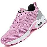 Mishansha Air Straßenlaufschuhe Damen Laufschuhe rutschfest Sportschuhe Frauen Dämpfung Turnschuhe Atmungsaktiv Walkingschuhe Leichte Sneaker Pink 275, Gr.37 EU