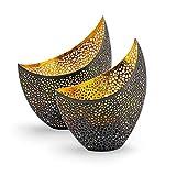 Gadgy Kerzenständer Gold | 2 stück Kerzenständer | Deko Tisch | Windlichter | Wohndeko | Deko Landhausstil | Gold Deko | Teelichthalter Gold | Kerzenhalter Gold Windlicht Gold |Tischdek