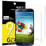 NEW'C PanzerglasFolie Schutzfolie für Samsung Galaxy S4, [2 Stück] Frei von Kratzern Fingabdrücken und Öl, 9H Härte, HD Displayschutzfolie, DisplayschutzfolieSamsung Galaxy S4