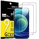 NEW'C 2 Stück, Schutzfolie für Panzerglas für iPhone 13 und iPhone 13 Pro (6,1'), Frei von Kratzern, 9H Härte, HD Displayschutzfolie, 0.33mm Ultra-klar, Ultrabeständig