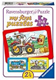 Ravensburger Kinderpuzzle - 06573 Bagger, Traktor und Kipplader - my first puzzle mit 3x6 Teilen - Puzzle für Kinder ab 2,5 J