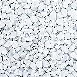 naninoa Marbles 7-15 mm. Weiße, gerundete Steine, Marmorsteine, Dekosteine, Kies, Nuggets, Kieselsteine weiß. 5 kg / 5000 g. Weiß, W