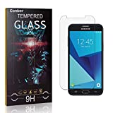 Conber [4 Stück] Displayschutzfolie kompatibel mit Samsung Galaxy J7 Prime/Galaxy On 7, Panzerglas Schutzfolie für Samsung Galaxy J7 Prime/Galaxy On 7 [9H Härte][Hüllenfreundlich]