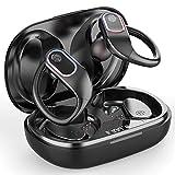 Raykit Bluetooth Kopfhörer Sport, Kabellose Kopfhörer In Ear 8H Single Spielzeit, Bluetooth 5.0 Wireless Earbuds Ohrhörer, Stereo Noise Cancelling IPX7 Kabellose Sportkopfhörer mit HD Mikrofon, USB-C