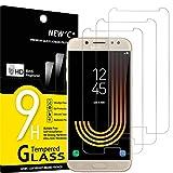 NEW'C 3 Stück, Schutzfolie Panzerglas für Samsung Galaxy J5 2017, Frei von Kratzern, 9H Härte, HD Displayschutzfolie, 0.33mm Ultra-klar, Ultrabeständig