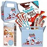 SchokoFreunde Geschenke® Snackbox inkl. Schoko Bons Crispy, duplo Classic, Ferrero Kinderschokolade Geschenke, Besondere Überraschungsbox für Geburtstage oder Partys, Gratis Backrezepte ink