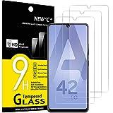 NEW'C 3 Stück, Schutzfolie Panzerglas für Samsung Galaxy A42 5G, Galaxy M12, Frei von Kratzern, 9H Härte, HD Displayschutzfolie, 0.33mm Ultra-klar, Ultrabeständig