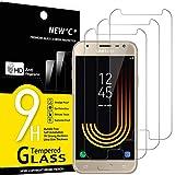 NEW'C 3 Stück, Schutzfolie Panzerglas für Samsung Galaxy J3 2017, Frei von Kratzern, 9H Härte, HD Displayschutzfolie, 0.33mm Ultra-klar, Ultrabeständig