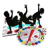 Twisting Kinderspiel Spielmatte Bodenmatte Bodenspiel Familienspiel, Partyspiel, Lustiges Spiel Geschicklichkeitsspiel für Kinder & Erwachsene - Englische V