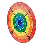 Spielzeugmanufaktur VAH - Stabile Zielscheibe für Bögen und Armbrüste mit Saugpfeilen [41 cm Durchmesser, Zum Aufhängen] Made in Germany