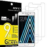 NEW'C 3 Stück, Schutzfolie Panzerglas für Samsung Galaxy A3 2016, Frei von Kratzern, 9H Härte, HD Displayschutzfolie, 0.33mm Ultra-klar, Ultrabeständig