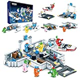 Unter uns Bausteinen, Weltraum-Alien-Figuren, Peluche-Spiel-Modellbausatz Bausteine, klassisches Kinderspielzeug für Kinder, Geschenk, Mini-Statuen, unter uns Spielmodell. (528 Stück, 6-in-1)