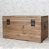 BESISOON Holz Aufbewahrungsbox Handgefertigte Feste Schäbige Schicke Hölzerne Aufbewahrungsbox-Kofferraumkiste   Aufbewahrungsbox Holzaufbewahrungsbox Holzschatzkistezur Aufbewahrung
