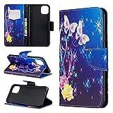 nancencen für Samsung Galaxy S8 Plus (6,2') Handyhülle, Hohe Qualität PU Lederhülle, Mit Kreditkarteninhaber Flip Cover Schutzhülle, Magnetverschluss, Rutsch Schutzhülle - Rosa Schmetterling