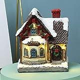sadfd Weihnachtsdorf Mit Beleuchtung, Weihnachts-Iglu, Winterlandschaft Schneehaus Mit LED, Weihnachten Leuchtendes Kleines Haus, Weihnachtsdeko Lichterkette Weihnachten Harz Handwerk, Warmes L