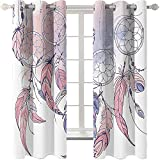 Weiße Fantasy Feder 3D Vorhang Digitaldruck Verdickte Haushaltsvorhänge Geeignet Für Schlafzimmer, Balkon, Garten Vorhänge Können Gewaschen W